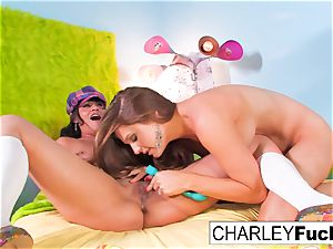 Charley haunt and Allison Moore have fun With Each Other