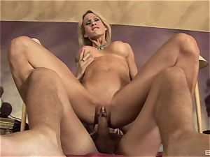 blonde cougar with fat faux knockers Sarah Jessie