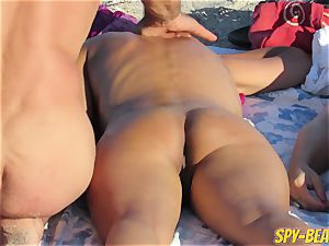 voyeur Beach first-timer nude mummies cunt And ass Close Up
