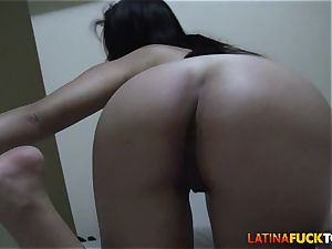 flawless bootie inexperienced Latina rails Your massive dick pov
