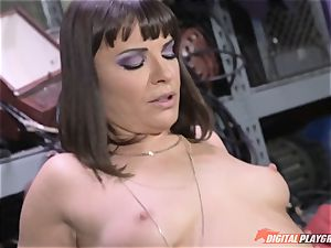 Dana DeArmond gets her stunning tight honeypot tongued and played with