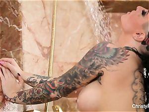 Christy Mack's super magnificent shower tease