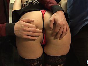 LaCochonne - French Julia Gomez in warm ass-fuck three way