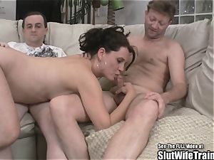 insane cockslut wifey threesome swallow plumb soiree For hubby