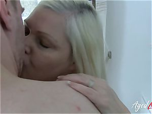 AgedLovE huge-boobed Mature Lacey Starr xxx lover