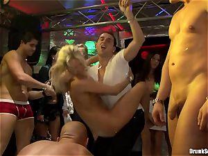 Bibi Fox and drunk friends enjoy ebony come on face