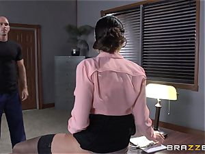 Warden Ariella Ferrera pounds her favourite prisoner