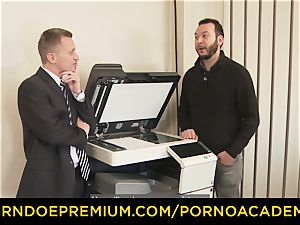 porn ACADEMIE - Curly schoolgirl hardcore teach episode