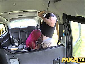 fake taxi Fetish goddess in dark-hued leather rectal internal ejaculation