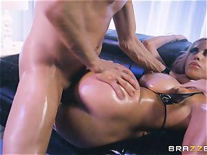Bridgette B stuffed in her taut donk