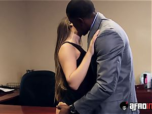 Lusty seductress IR boinked by suspended boss