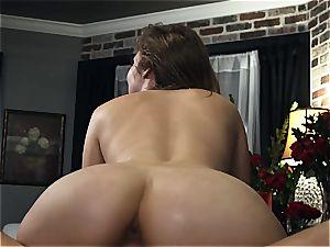 Lena Paul pounding her stud in Amazon pose