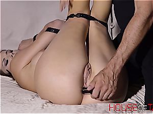 tied up and force poked